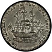 USA Rhode Island Ship Token 1779 KM# Tn27b Rhode Island Ship Tokens DE ADMIRALS FLAG van ADMIRAL HOVE 1779 coin obverse