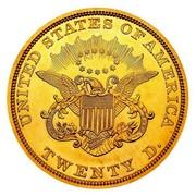 USA Twenty D. Liberty Double Eagle 1849 unique, in Smithsonian collection KM# 74.1 UNITED STATES OF AMERICA E PLURIBUS UNUM O TWENTY D. coin reverse