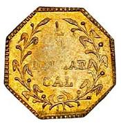 USA 1/4 Dollar Dumb indian head (Octagonal) 1881 KM# 2.6 1/4 DOLLAR CAL coin reverse