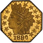 USA 1/4 Dollar Indian Head (Octagonal) 1880 KM# 2.4 1880 coin obverse