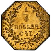USA 1/4 Dollar Indian Head (Octagonal) 1880 KM# 2.4 1/4 DOLLAR CAL coin reverse