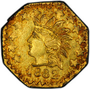 USA 1/4 Dollar Indian Head (Octagonal) 1882 KM# 2.8 1882 coin obverse