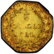 USA 1/4 Dollar Indian Head (Octagonal) 1882 KM# 2.8 1/4 DOLLAR CAL coin reverse