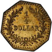 USA 1/4 Dollar Young Indian head (Octagonal) 1881 KM# 2.7 1/4 DOLLAR coin reverse
