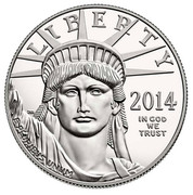 USA $100 Secure the Blessings of Liberty 2014 W Proof KM# 586 LIBERTY 2014 IN GOD WE TRUST E PLURIBUS UNUM coin obverse