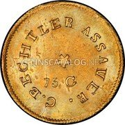 USA $2-1/2 Two and half Dollars (1831-42) KM# 93.2 Christopher Bechtler (North Carolina) NORTH CAROLINA GOLD. 150. 20. G. coin reverse