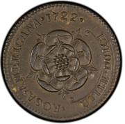 USA 2 Pence Royal Patent 1722 KM# 8.2 ROSA ∙ AMERICANA ∙ UTILE ∙ DULCI coin reverse