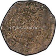 USA 3 Pence 1652 KM# 4 Willow Tree MASA TUS ETS coin obverse