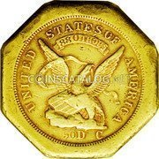 USA $50 Fifty Dollars 1851 KM# 31.1 Dunbar & Company UNITED STATES OF AMERICALIBERTY 880 THOUS 50 D C coin obverse