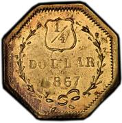 USA ¼ Dollar 1863 KM# 1.7 Small size Gold Coins ¼ DOLLAR *YEAR* coin reverse