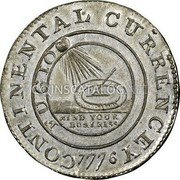 USA Dollar Continental Dollar 1776 KM# EA3 CONTINENTAL CURRENCY FUGIO MIND YOUR BUSINESS coin obverse