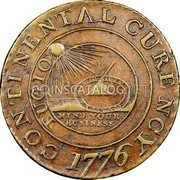 USA Dollar Continental Dollar 1776 KM# EA4 CONTINENTAL CURENCY FUGIO MIND YOUR BUSINESS coin obverse