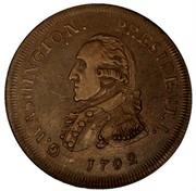 USA Half Dollar 1792 KM# Tn63.2 Washington Pieces G. WASHINGTON. PRESIDENT. I. coin obverse
