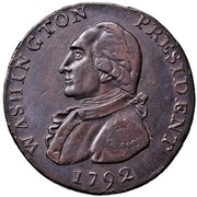 USA Half Dollar 1792 KM# Tn64 Washington Pieces WASHINGTON PRESIDENT coin obverse