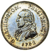 USA Half Dollar 1792 KM# Tn63.3 Washington Pieces G. WASHINGTON. PRESIDENT. I. coin obverse