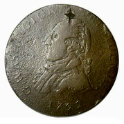 USA Half Dollar 1792 KM# Tn63.1a Washington Pieces G. WASHINGTON. PRESIDENT. I. coin obverse