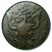 USA Half Dollar 1792 KM# Tn63.1a Washington Pieces • UNITED STATES OF AMERICA • coin reverse