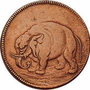 USA Halfpenny 1684 KM# Tn4 Elephant Tokens coin obverse