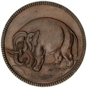 USA Halfpenny 1694 KM# Tn7 Elephant Tokens coin obverse