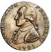 USA Halfpenny 1791 KM# Tn56 Washington Pieces WASHINGTON PRESIDENT coin obverse