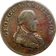 USA Halfpenny 1795 KM# Tn76.6 Washington Pieces GEORGE WASHINGTON coin obverse