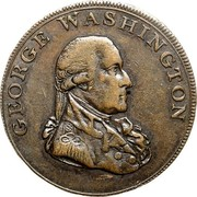 USA Halfpenny 1795 KM# Tn76.5 Washington Pieces GEORGE WASHINGTON coin obverse