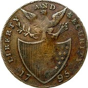 USA Halfpenny 1795 KM# Tn76.6 Washington Pieces LIBERTY AND SECURITY coin reverse