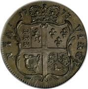 USA Halfpenny George III 1773 KM# Tn25.1 NIA VIRGI coin reverse