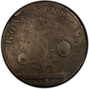 USA Penny 1727 KM# 14 Rosa Americana ROSA • SINE • SPINA • coin reverse
