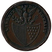 USA Penny 1795 KM# Tn77.1 Washington Pieces LIBERTY AND SECURITY coin reverse