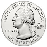 USA Quarter Dollar Great Sand Dunes National Park 2014 KM# 583 UNITED STATES OF AMERIKA IN GOD WE TRUST QUARTER DOLLAR LIBERTY coin obverse