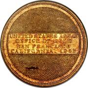 USA Twenty D. Ingot U.S. Assay Office San Francisco 1853 KM# 53 UNITED STATES OF ASSAY OFFICE OF GOLD SAN FRANCISCO CALIFORNIA. 1853 coin reverse