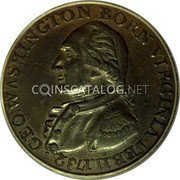 USA Washington Cent 1792 KM# Tn61.1a Washington Pieces • GEO. WASHINGTON BORN VIRGINIA FEB. 11. 1732 coin obverse