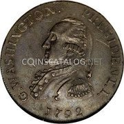 USA Washington Cent 1792 KM# Tn60.1 Washington Pieces G. WASHINGTON. PRESIDENT. I. coin obverse