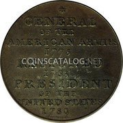 USA Washington Cent 1792 KM# Tn61.1a Washington Pieces GENERAL OF THE AMERICAN ARMIES 1775 RESIGNED 1783 PRESIDENT OF THE UNITED STATES 1789 coin reverse