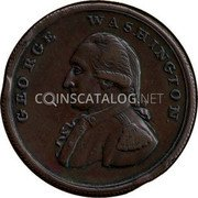 USA Penny 1795 KM# Tn77.1 Washington Pieces GEORGE WASHINGTON. coin obverse
