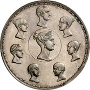 Russia 1-1/2 Roubles - 10 Zlotych Imperial Family 1836 Restrike C# 172.2 - coin reverse
