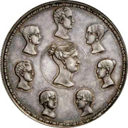 Russia 1-1/2 Roubles - 10 Zlotych Imperial Family 1836 C# 172.1 - coin reverse
