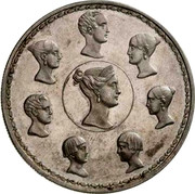 Russia 1-1/2 Roubles - 10 Zlotych Imperial Family 1836 C# 172.4 - coin reverse
