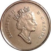 Canada 10 Cents 500th Anniversary of Caboto's First Transatlantic Voyage 1999 KM# 183 ELIZABETH II D∙G∙REGINA coin obverse