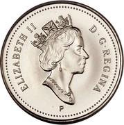 Canada 10 Cents Elizabeth II 3rd portrait 2000 P KM# 183b ELIZABETH II D∙G∙REGINA P coin obverse