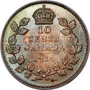 Canada 10 Cents George V  10 Cents Canada Coin Reverse