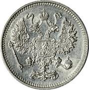 Russia 10 Kopeks Nikolai II without mintmark 1916 Y# 20a.1 - coin obverse
