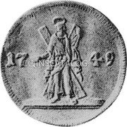 Russia 2 Ducats 1749 C# 34.1 EMPIRE TRADE COINAGE coin reverse