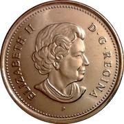 Canada 25 Cents Elizabeth II 4th portrait 2003 P KM# 493 ELIZABETH II D ∙ G ∙ REGINA P coin obverse