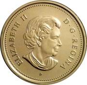 Canada 25 Cents Montreal Canadiens 2006 P Prooflike KM# 575 ELIZABETH II D∙G∙REGINA P coin obverse