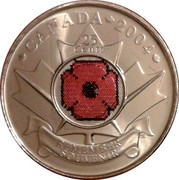 Canada 25 Cents Remembrance Day 2004 P KM# 510 CANADA 2004 25 CENTS REMEMBER SOUVENIR coin reverse