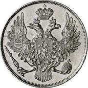 Russia 3 Roubles Nikolai I 1828 СПБ C# 177 - coin obverse