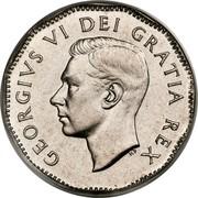 Canada 5 Cents George VI Beaver 1948 KM# 42 GEORGIVS VI DEI GRATIA REX coin obverse
