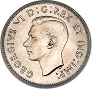 Canada 5 Cents George VI (round) 1939 KM# 33 GEORGIVS VI D:G:REX ET IND:IMP: coin obverse